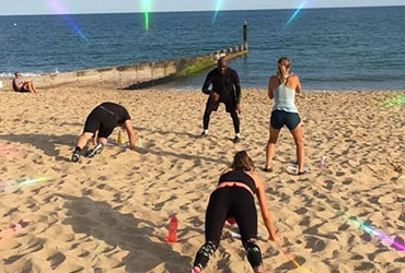 Bournemouth Fitness Group Exercise on the Beach
