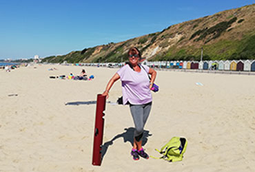 Bournemouth Fitness Group - Relaxing after Beach Exercise Session